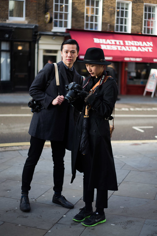 Street Style - Aaron & Mo, London Collections: Men