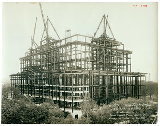 Photograph of the National Archives Building Being Constructed, 09/05/1933