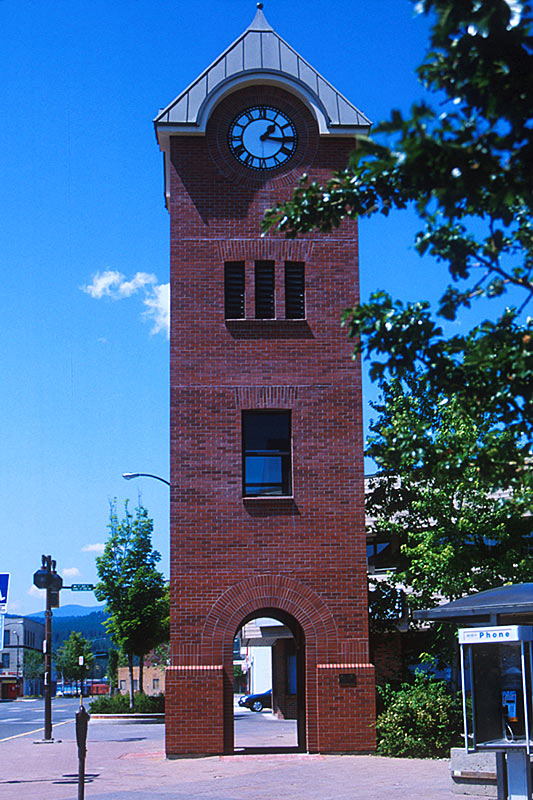 Cranbrook Clock Tower, Cranbrook, Columbia Valley, Kootenay Rockies, British Columbia, Canada