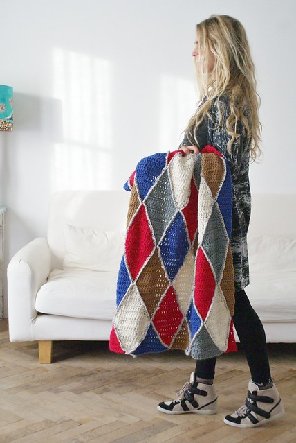 wood & wool harlequin blanket