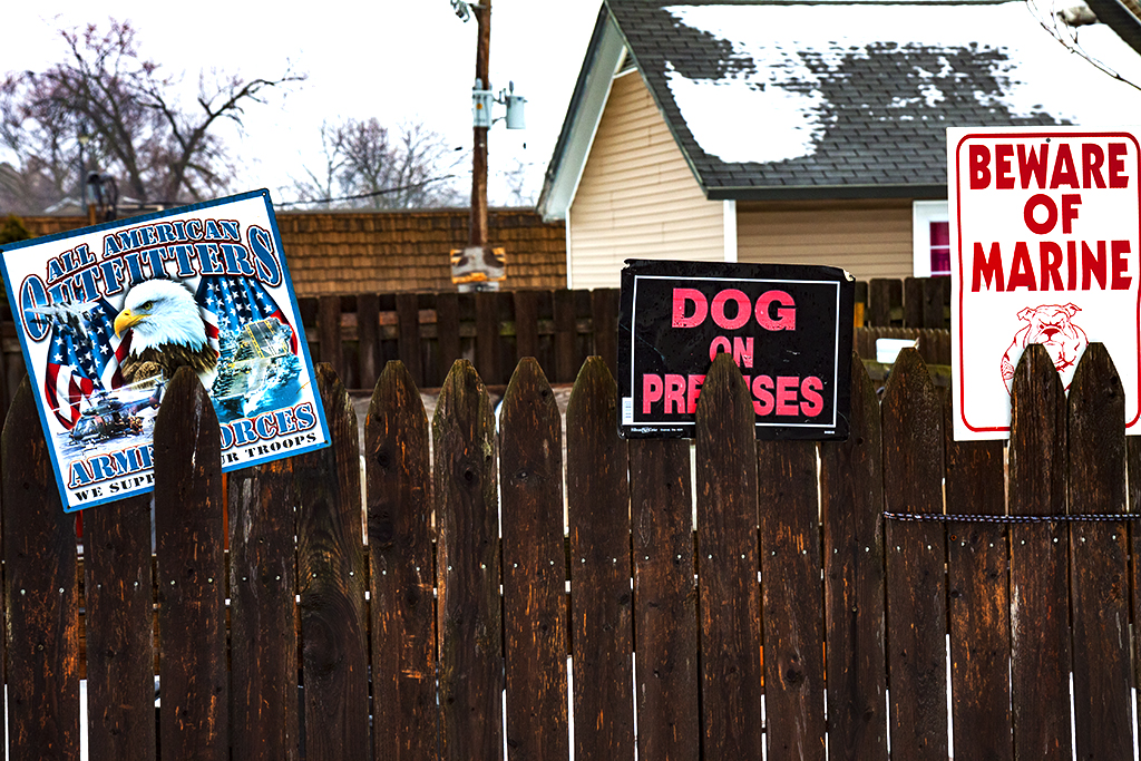 DOG-ON-PREMISES-BEWARE-OF-MARINE--Joliet