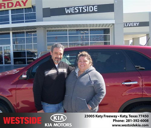 Happy Anniversary to Jose A Arreola on your 2014 #Kia #Sorento from Rubel Chowdhury  and everyone at Westside Kia! #Anniversary - Copy by Westside KIA