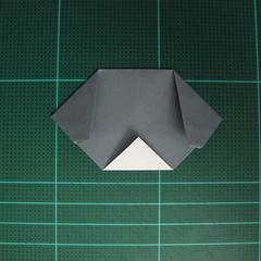 วิธีพับกระดาษเป็นรูปลูกสุนัข (แบบใช้กระดาษสองแผ่น) (Origami Dog) 021