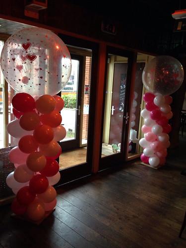 Ballonpilaar Breed Rond Valentijnsdag De Beren Bonnie Beer Spijkenisse