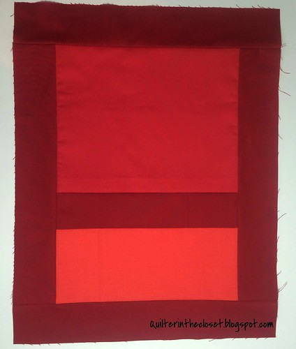 Rothko inspired mini quilt