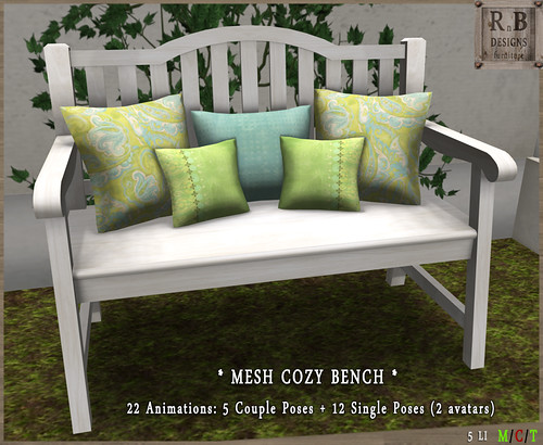 PROMO 55L ! *RnB* Mesh Cozy Bench 1-1 - Couple & Singles (2 avs)