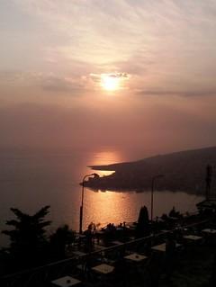 Sunset from Lekuresi's castle