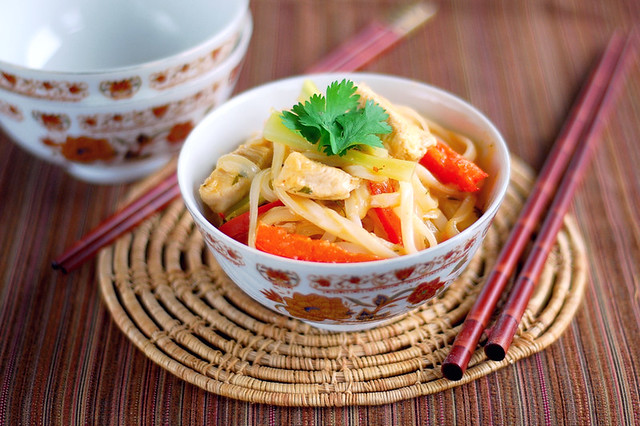 Red Curry Coconut Noodles | Buttered Side Up