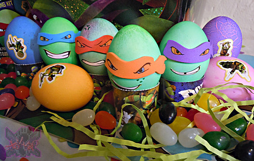 "MasDudley's Easter :: Nickelodeon ""TEENAGE MUTANT NINJA TURTLES"" EASTER EGG DECORATING KIT ix (( 2014 ))"