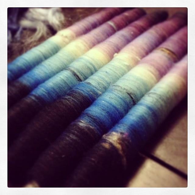 #rolags bamboo nylon tencel neps Sari waste