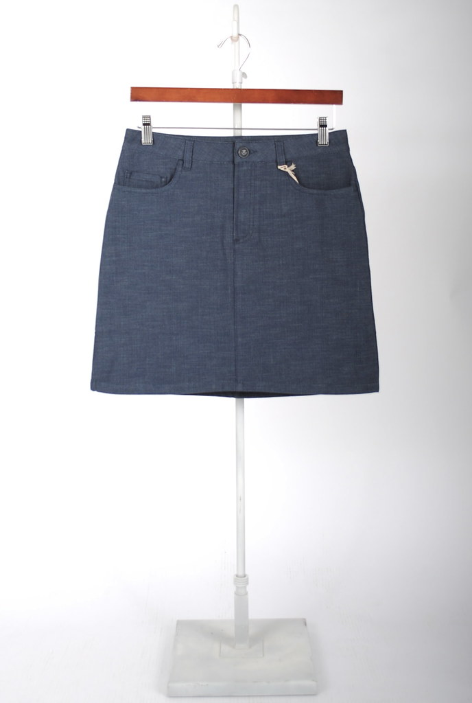 Mid-Length Denim Skirt