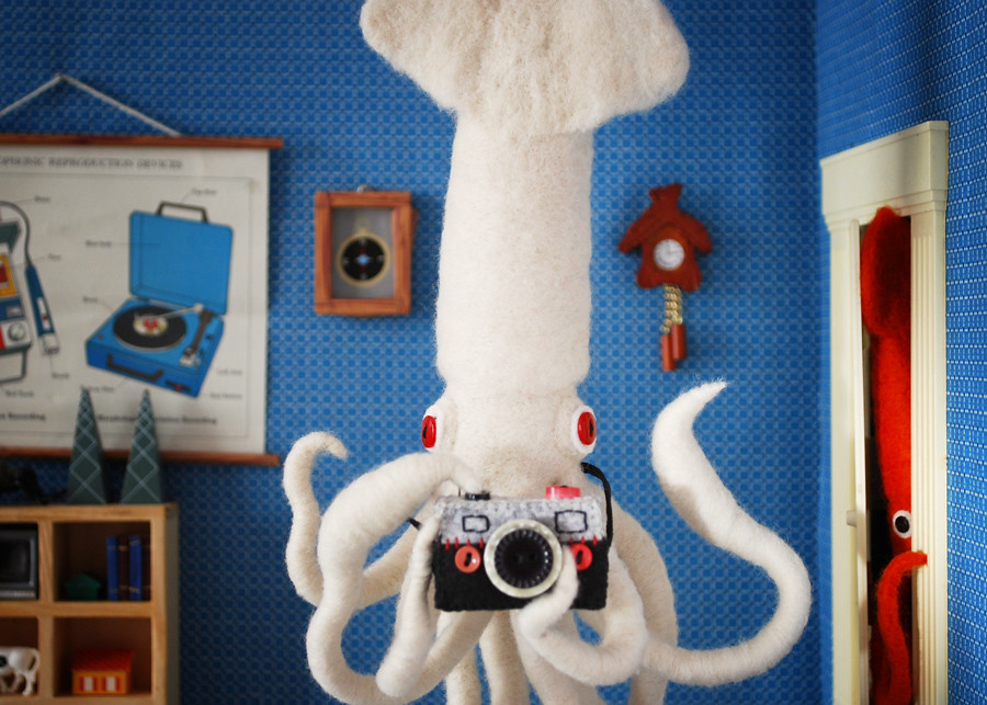 Giant Squid Selfie