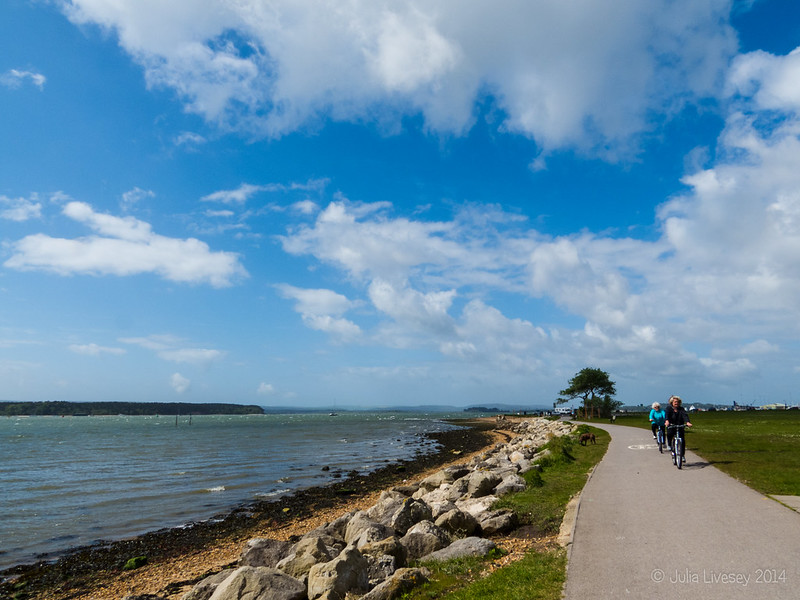 Cycling along Poole Harbour