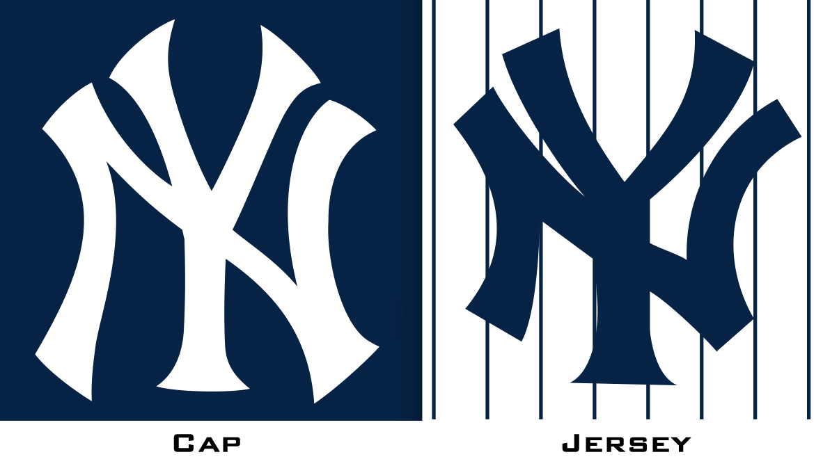 196d03773d84e So when did the jersey and cap logos become distinct from each other