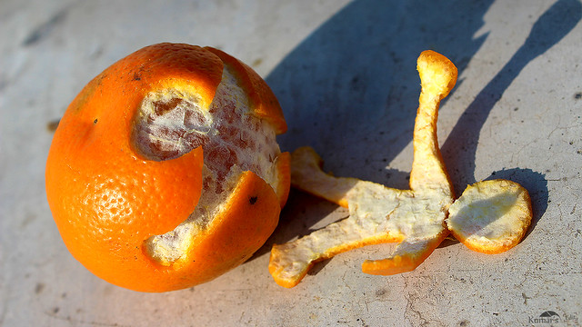 Human Shapes from orange outer peel #1