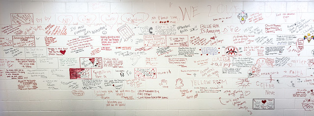 Goodbye messages at Kempsville Recreation Center
