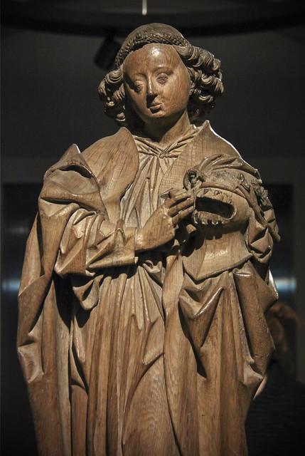 Angel with the Arma Christi, c 1480, Master Arnt of Kalkar