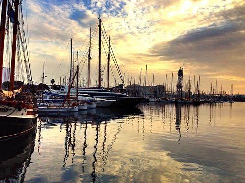 marinaportvell barcelona catalunya portvell port vaixell barcos