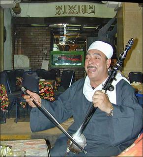 Chanteur à El-Khalili (Le Caire, Egypte)
