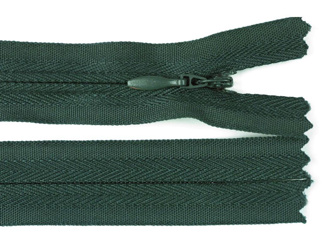 Reißverschluss 20cm, Dunkelgrün