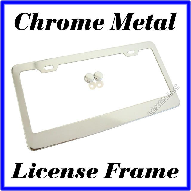 1pc Chrome Stainless Steel Metal License Plate Frame