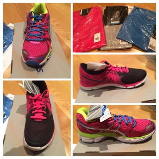 Shiny newness! #ASICS #MixUpYourRun @ASICSEurope trainers have arrived! #fb can't wait till I can test them out
