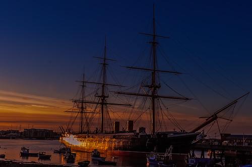 england hampshire portsmouth warrior geoffrey naval radcliffe hms dockyard