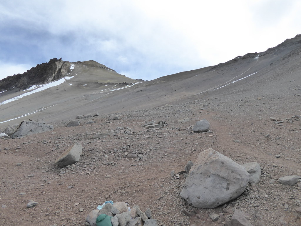 View up from Camp Canada, Aconcagua