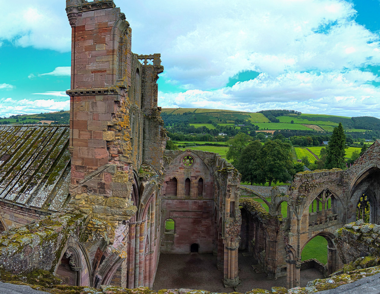 Melrose Abbey. Credit Steve Collis
