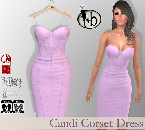#b Candi Pink Strappy Corset Dress
