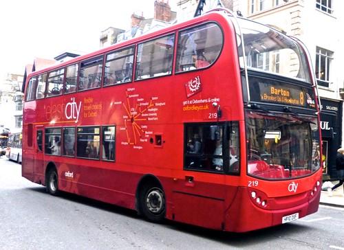 HF10 OXF 'Oxford Bus Company' 219 Scania 230UD / ADL Enviro 400 on Dennis Basford's 'railsroadsrunways.blogspot.co.uk