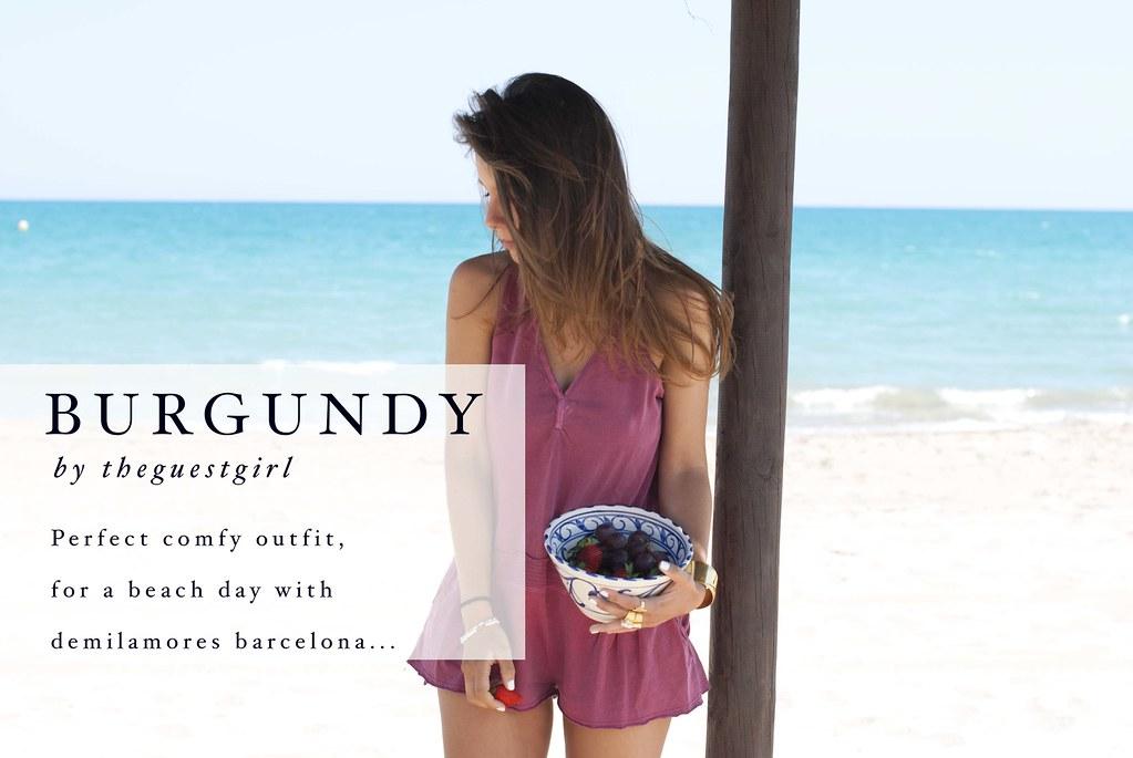 burgundy_summer_outfit_demilamores_barcelona_theguestgirl