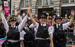 Metropolitan Police, London LGBT Pride Parade, 25 June 2016