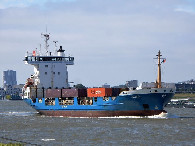 Containervessel Alma from A2B-online