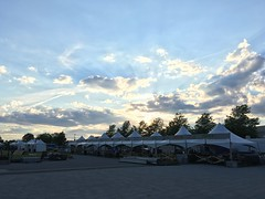 Beautiful sunset at the Bluesfest build site.