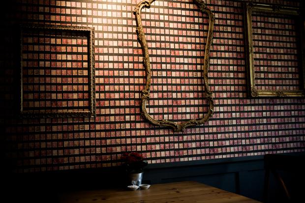 Frames in The Five Alls Pub