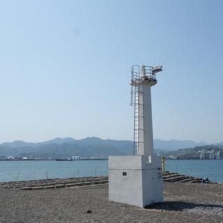 清水区 三保半島。ちいさな灯台。