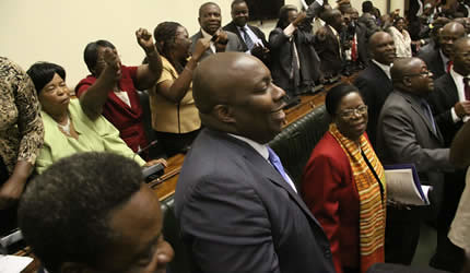 Constitution Bill sails through Zimbabwe House of Assembly on May 9, 2013. The country is poised for harmonized elections later in the year. by Pan-African News Wire File Photos