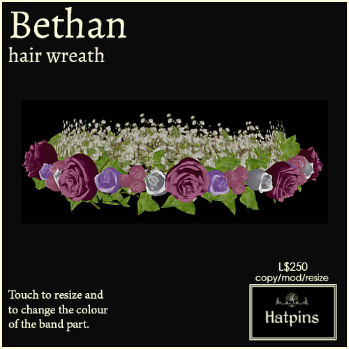Hatpins - Bethan Wreath - Cheery Roses