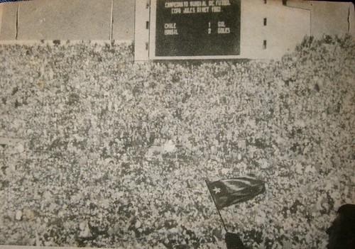 Crowd at Chile verus Brazil, 1962 World Cup