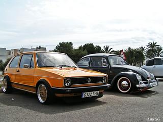 VW Golf mk1 y escarabajo '67