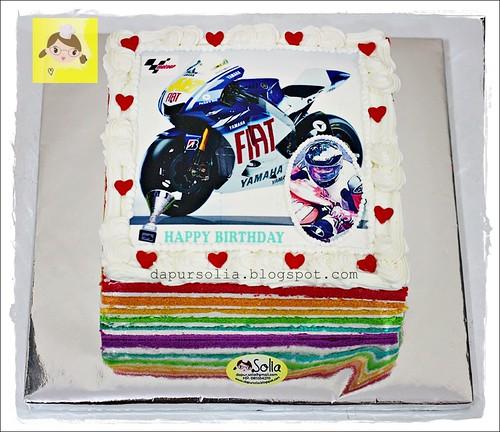 Rainbow Cake MotoGP