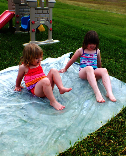 "Bee and Lucy on the ""Redneck Waterbed"""
