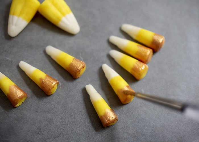 Unicorn candy corn horns