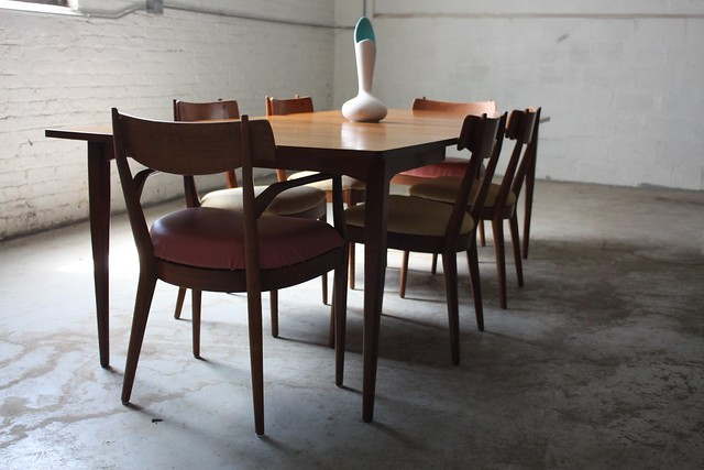 Superb Drexel Declaration Mid Century Modern Dining Table And Chairs