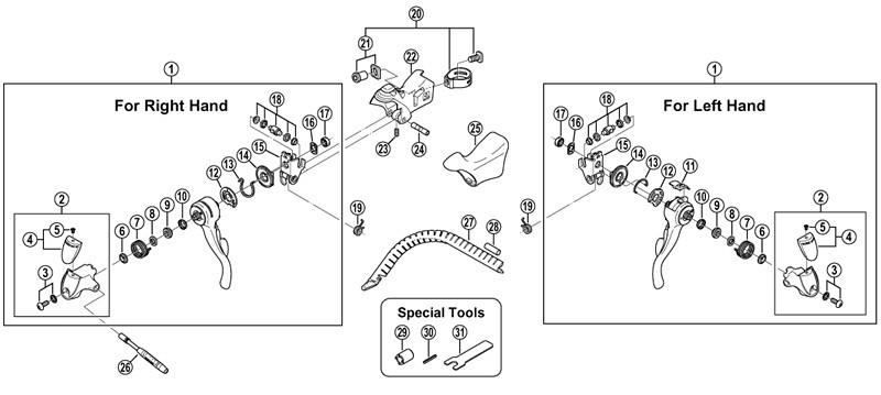 Repair manual Shimano rsx