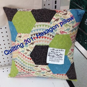I'm the new quilt teacher at JoAnn's on Barry Road.