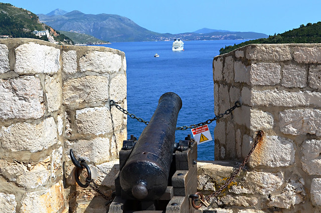 Cannon and Cruise Ship, Dubrovnik