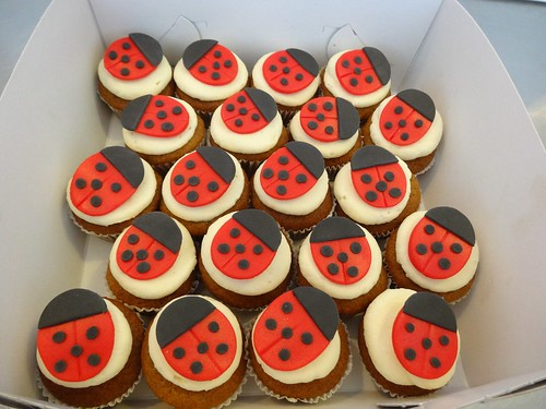 Lady Bug Cupcakes by CAKE Amsterdam - Cakes by ZOBOT