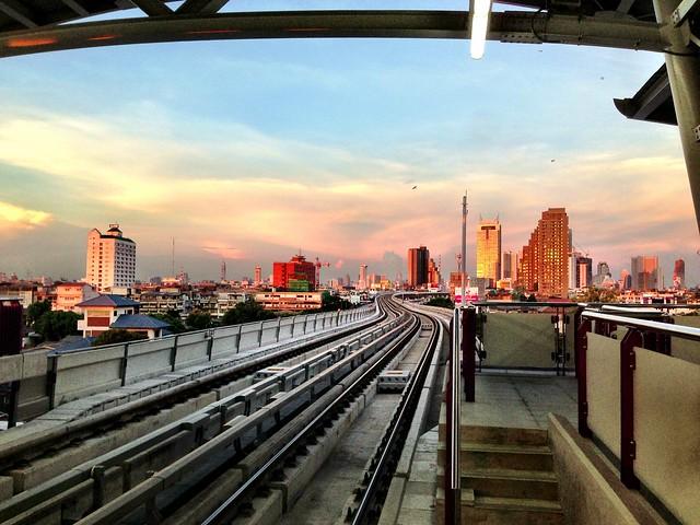 Bangkok BTS Sunset